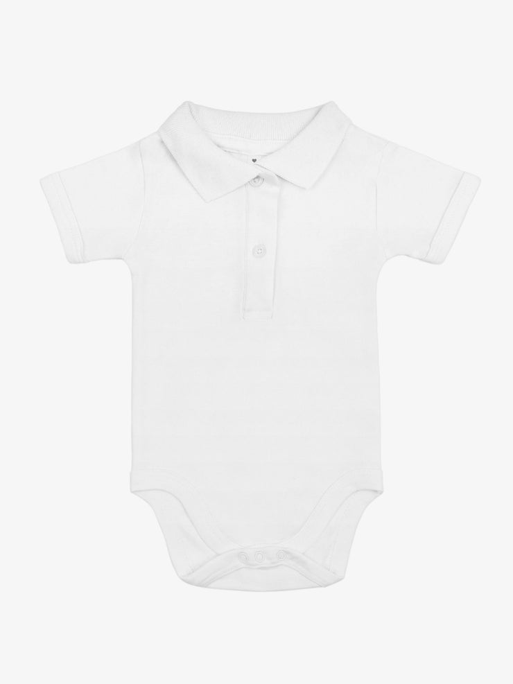 Bio & Fair Trade Polo-Babybody in Weiss