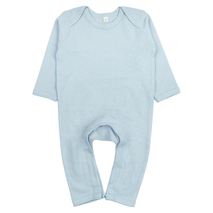 Basic Fair-Trade Strampler in Hellblau von Babylotta