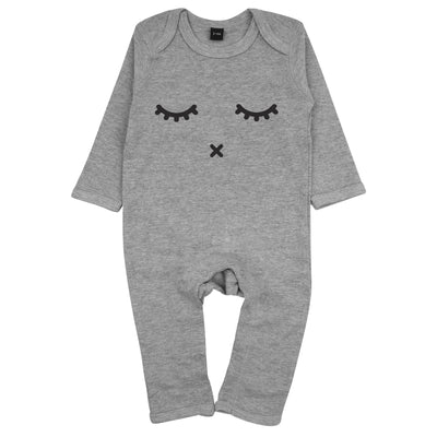 Sleepy Eyes Baby-Strampler in Grau von Babylotta