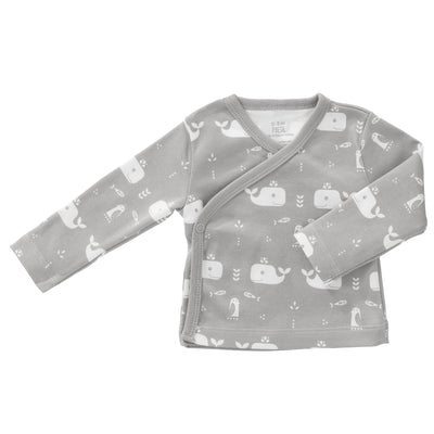 Bio Baby Wickelshirt Wale in Grey