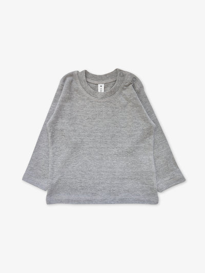 Fair Trade Babyshirt in Grau/Melange