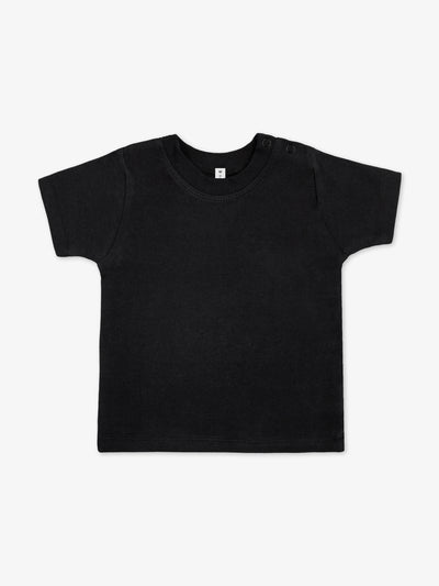 Bio & Fair Trade Kurzarm-Babyshirt in Schwarz
