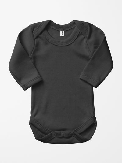 Bio & Fair-Trade Baby-Body in Schwarz