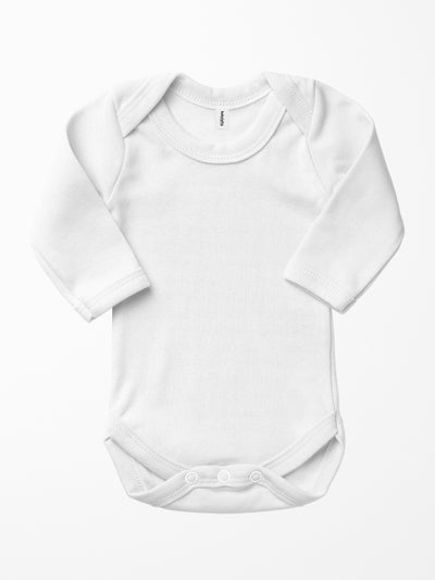Bio & Fair-Trade Baby-Body in Weiss
