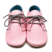 Design Babyschuhe Derby in Rosa