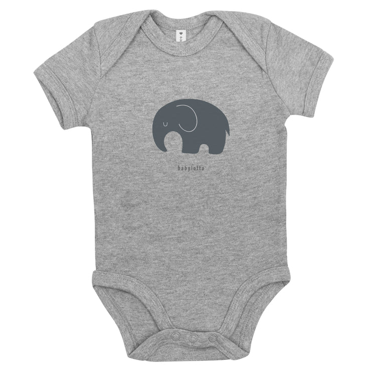 Kurzarm Bio Design Body Elephant - Grau