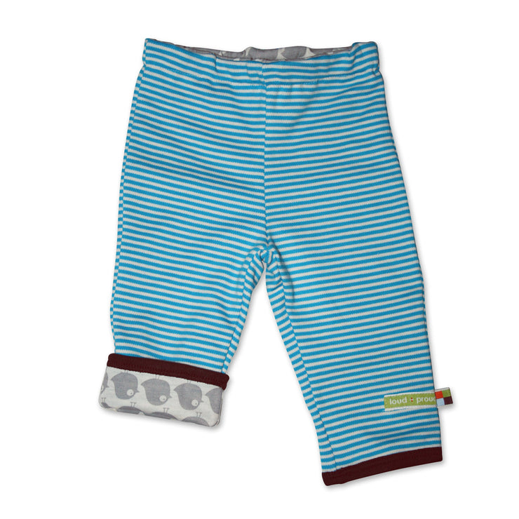 Baby Wendehose in Blau aus Bio-Baumwolle von Loud and Proud