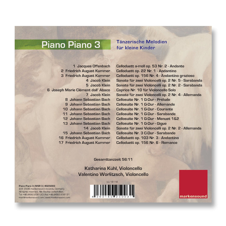 Cover Baby Musik CD Piano Piano 3
