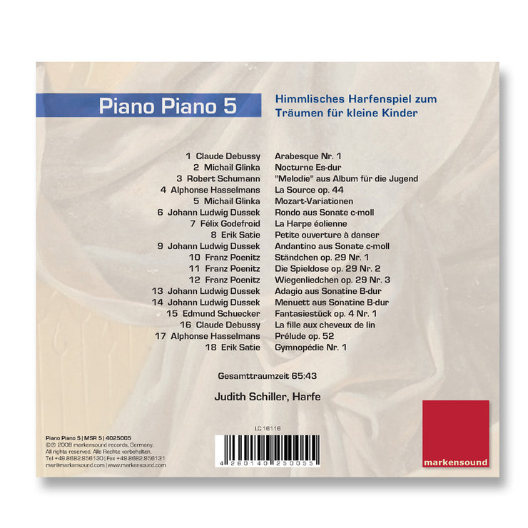 Cover Baby Musik CD Piano Piano 5