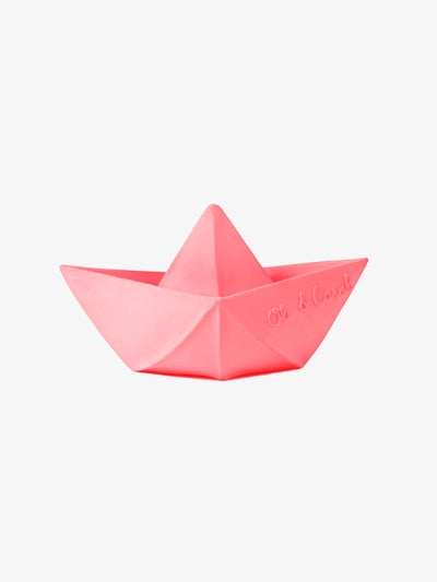 Badespielzeug Origami Boat in Pink