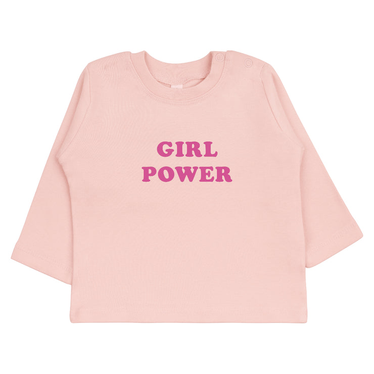 Design Babyshirt Girl Power in Rosa von Babylotta
