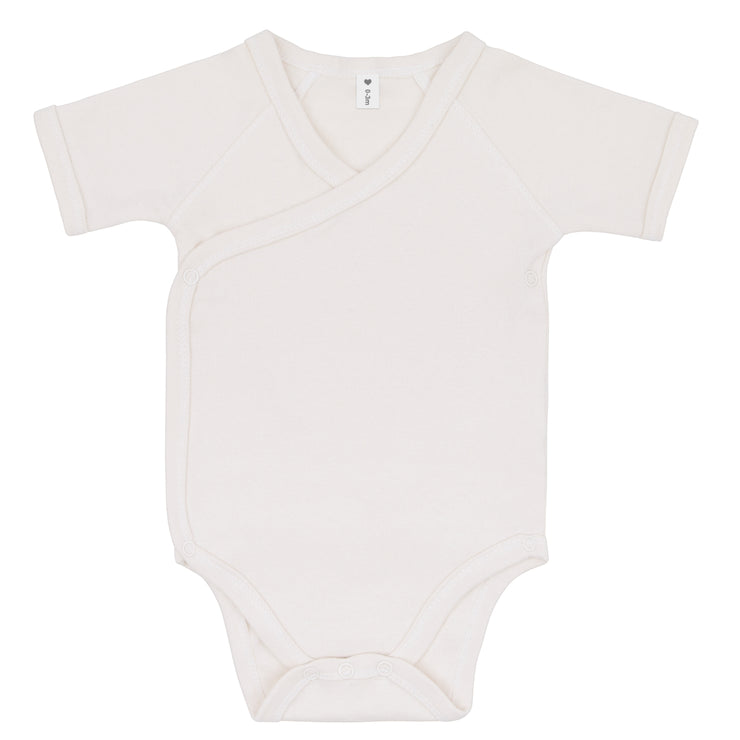 Bio & Fair Trade Kurzarm-Body in Natur von Babylotta