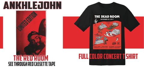 "ANKHLEJOHN ""The Red Room"" Cassette Tape & Concert T Shirt Bundle"