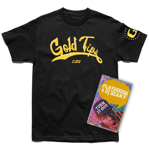 Gold Tips T-shirt + Cassette Bundle