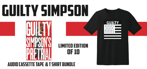 "Guilty Simpson ""Pre-Trial"" Cassette Tape & T-Shirt Bundle (Pre-Order)"