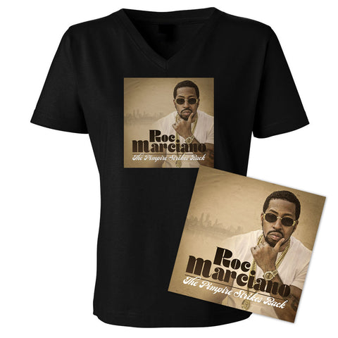Roc Marciano - The Pimpire Strikes Back T-shirt + CD Bundle (womans)