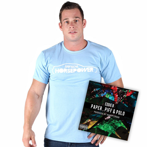 Eddie B - Blue T-shirt + CD Bundle