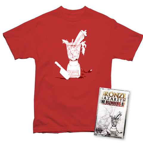 Bronze Nazereth - Red Blender T-shirt + Cassette Bundle