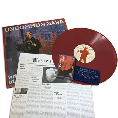 "Uncommon Nasa ""Written at Night"" LP Vinyl Pre-Order W/ Free Instrumental Cassette"