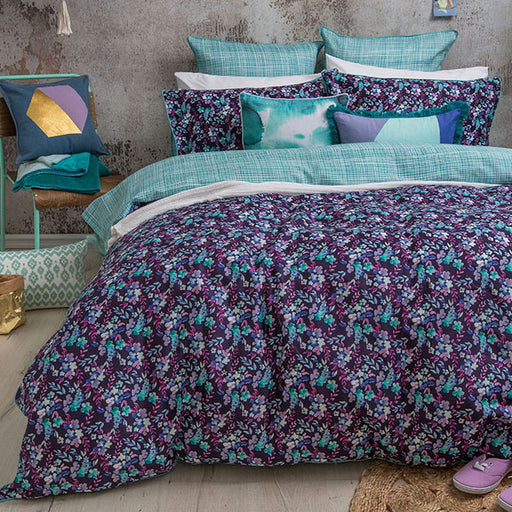 Evelyn Quilt Cover Set Range Purple