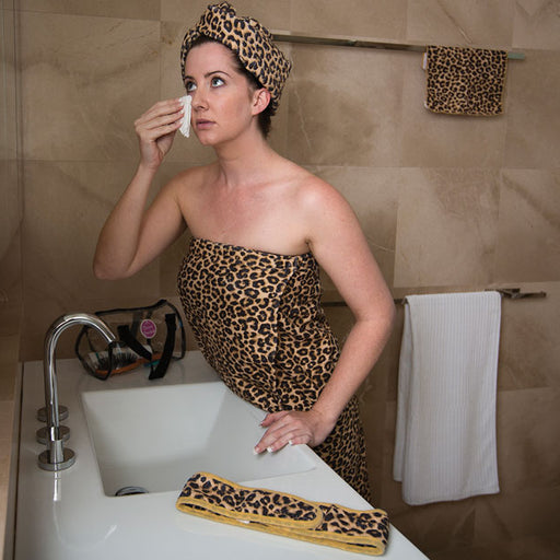 Glamour Essentials Microfibre Beauty Pack Pink Leopard