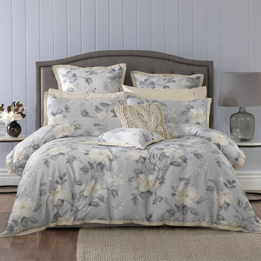 Rosetta European Pillowcase Grey