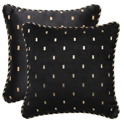 Massimo 45x45cm Filled Cushion Black