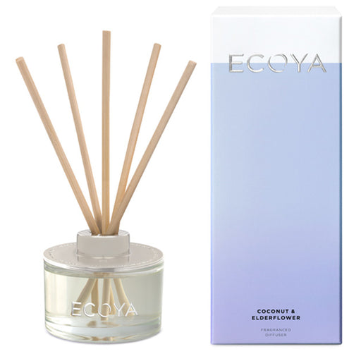 Mini Reed Diffuser 50ml Coconut and Elderflower
