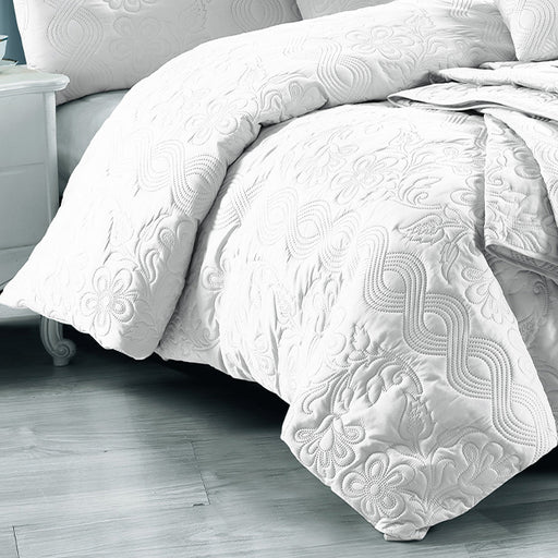 Marguerite Quilt Cover Set Range White