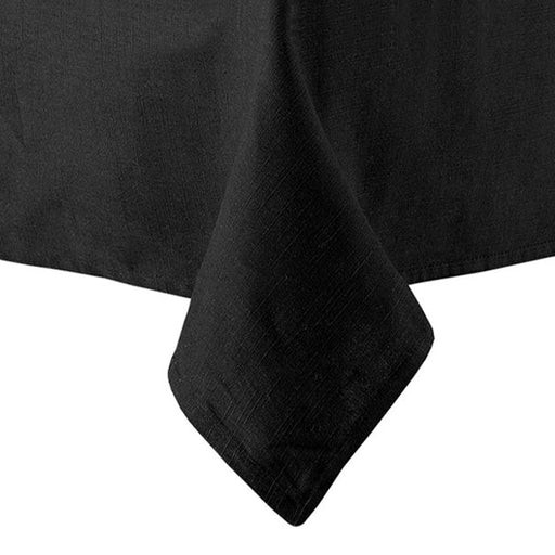 Base Linen Look Cotton Tablecloth Range Black