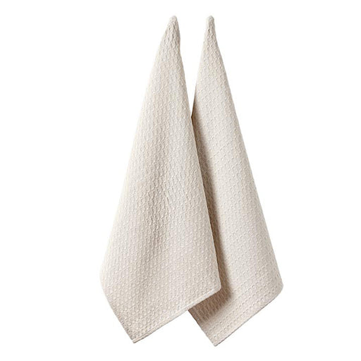 Eco Recycled Tea Towel 2 Pack Natural