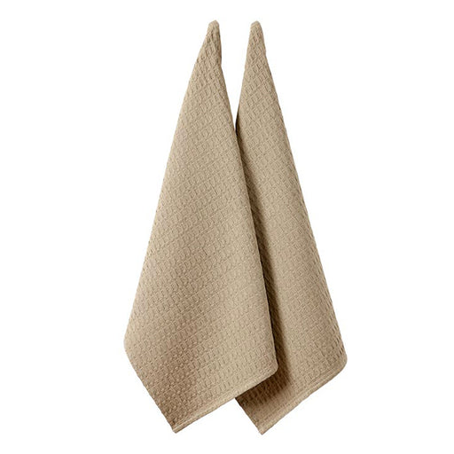 Eco Recycled Tea Towel 2 Pack Taupe
