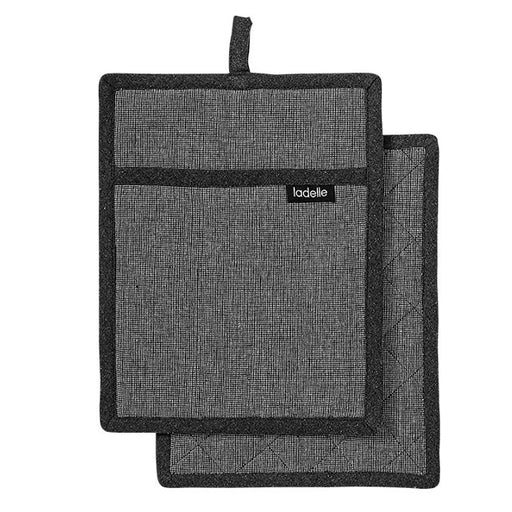 Eco Recycled Pot Holder 2 Pack Charcoal