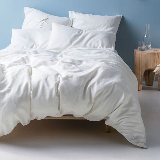 Nimes Linen Standard Pillowcase White