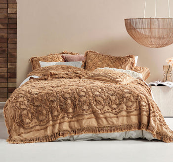 Somers Queen to King Coverlet Range Biscotti