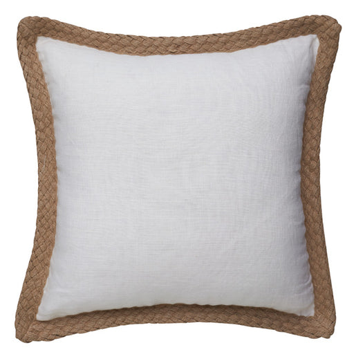 Jute 50x50cm Filled Cushion White