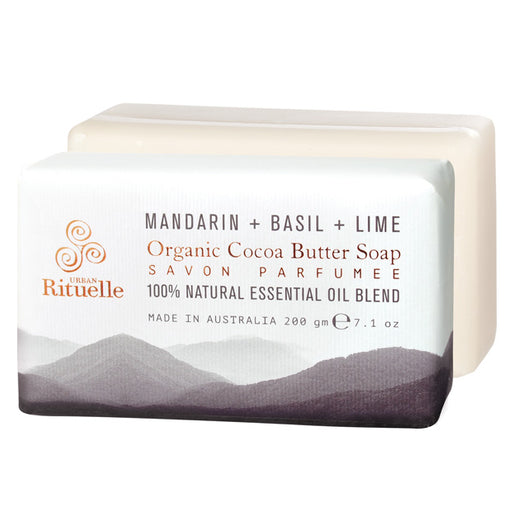 Equilibrium 200g Cocoa Butter Soap Mandarin with Basil and Lime
