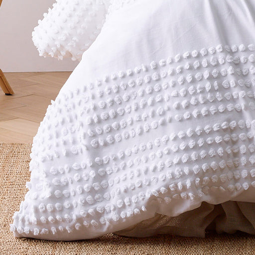 Betty Quilt Cover Set Range White
