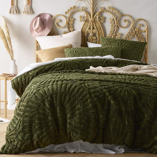 Carmen European Pillowcase Olive