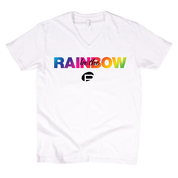 White V-neck Be the Rainbow T