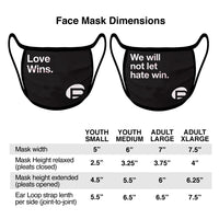 Black Face Mask - We will not let hate win.