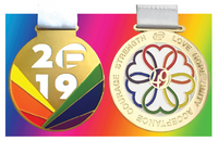 2019 & 2020 CommUNITY Rainbow Run Medals