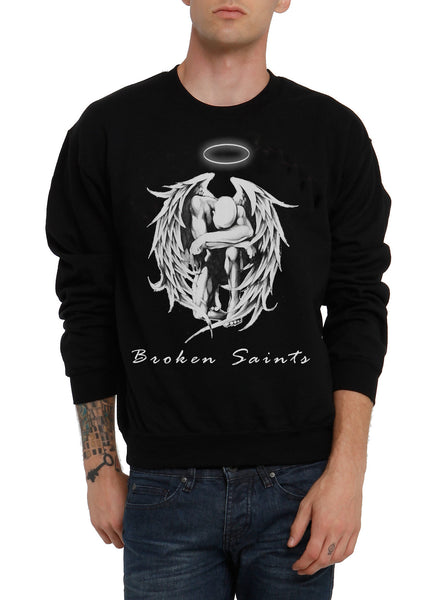 Broken Saints Praying Angel Crewneck Sweater