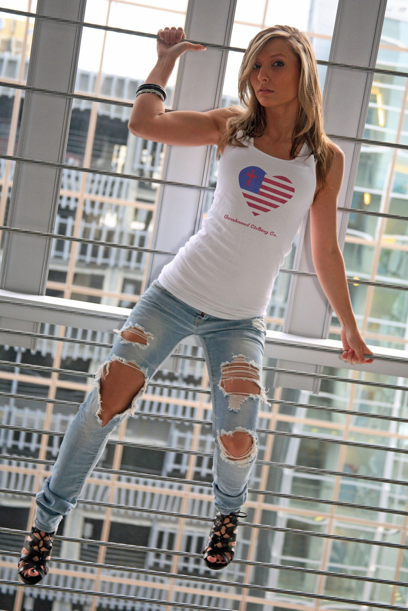 God and Country Ladies Tank