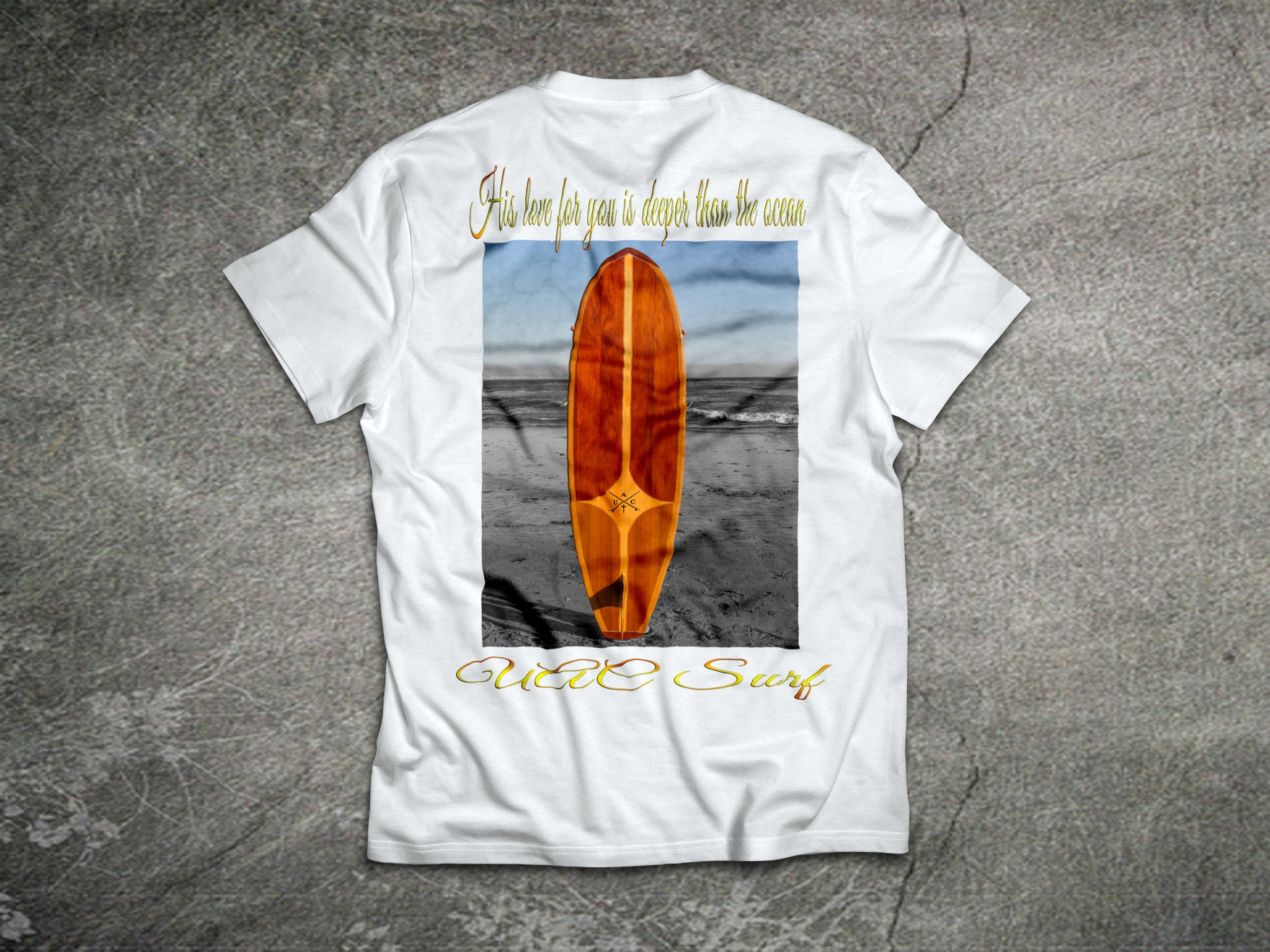 "UAC Surf ""His Love Is Deeper than the Ocean"" Surf Tee"