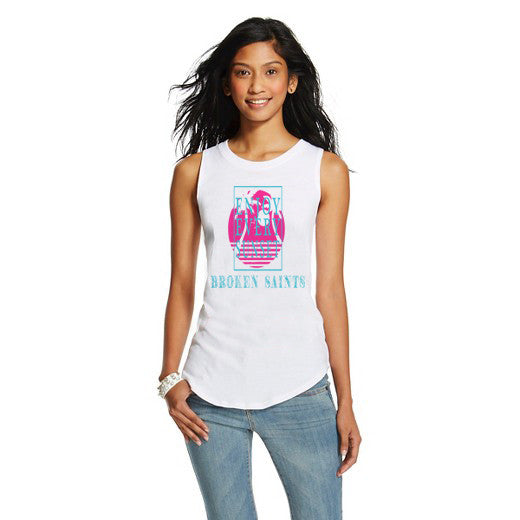 Broken Summer Paradise Ladies Muscle Tee