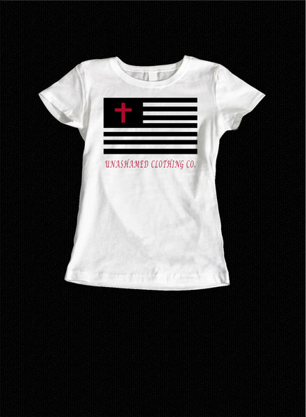 In God We Trust Flag Ladies Tee