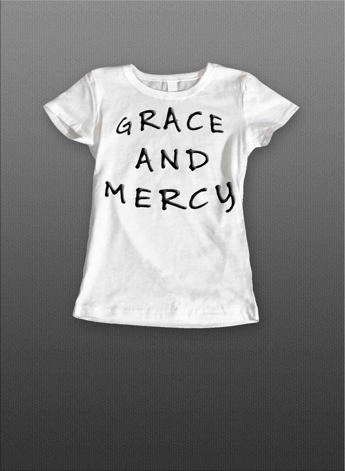 Grace and Mercy Ladies Tee (Black)