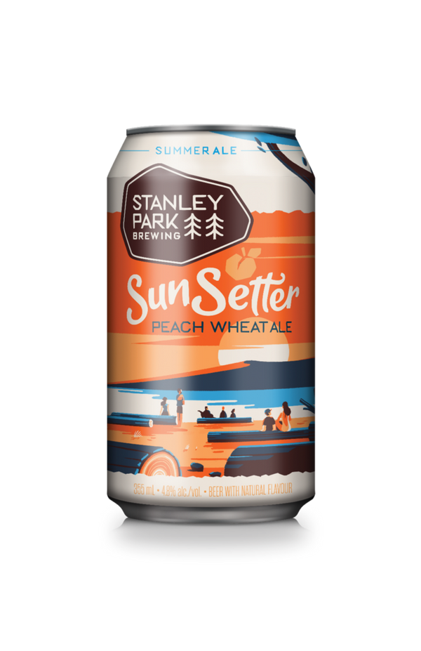 Can of SunSetter Peach Wheat Ale