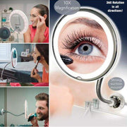 10x Magnifying LED Mirror